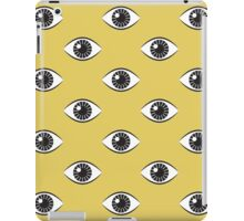 Eyes Wide Open - Mustard Yellow iPad Case/Skin