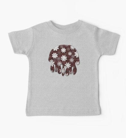 Melted Chocolate and Milk Flowers Pattern Baby Tee
