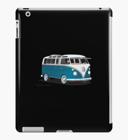 Hippie 21 Window VW Bus Samba Tuerkis iPad Case/Skin