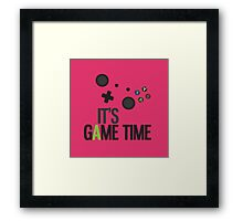 It's Game Time - PINK Framed Print