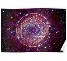 Sacred Geometry Nebula Poster