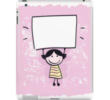 Beautiful artistic Girl on Pink iPad Case/Skin