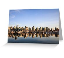 Vancouver City Skyline Greeting Card