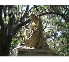 ETERNAL REFLECTION CEMETERY STATUE Photographic Print