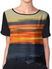 Sky At Dawn | Montauk Point State Park, New York Chiffon Top