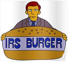 Internal Revenue Service Burger Poster