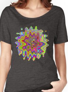 Psychedelic Glowing Colors Pattern Women's Relaxed Fit T-Shirt