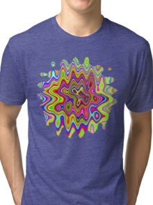 Psychedelic Glowing Colors Pattern Tri-blend T-Shirt