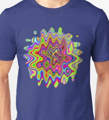 Psychedelic Glowing Colors Pattern Unisex T-Shirt