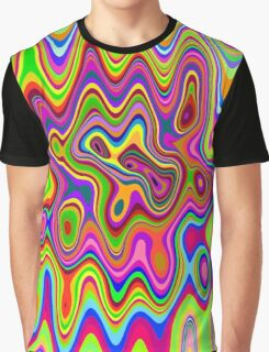 Psychedelic Glowing Colors Pattern Graphic T-Shirt