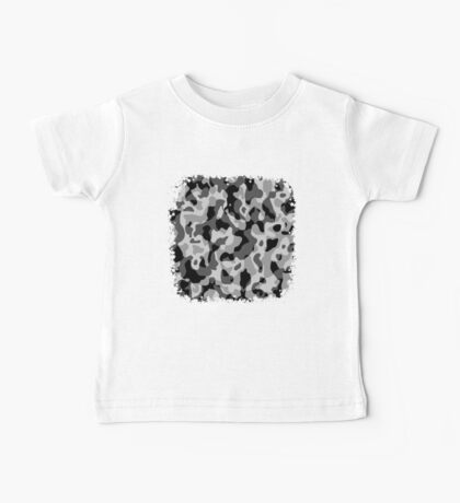 Grey Camouflage Army Military Pattern Baby Tee