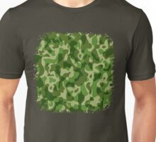 Green Camouflage Army Military Pattern Unisex T-Shirt