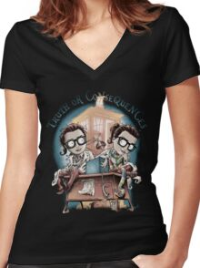 Truth Or Consequences Women's Fitted V-Neck T-Shirt