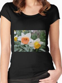 Daffodils After Hard Rain Women's Fitted Scoop T-Shirt