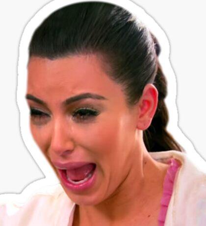 Crying Kim Sticker