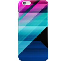 Bright Pink Teal and Blue Geometric Pattern iPhone Case/Skin