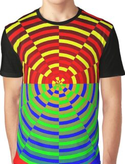 Digital Sunset Graphic T-Shirt