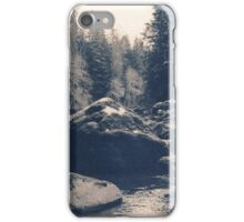 Sauk River in winter iPhone Case/Skin