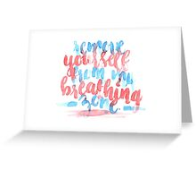 Breathing Zone Greeting Card