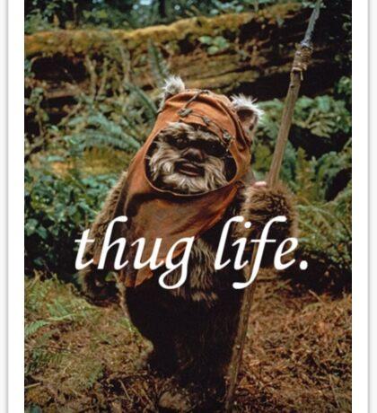 Ewok Thuggin' Sticker