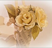 Roses And Butterfly Posy  by Sandra Foster