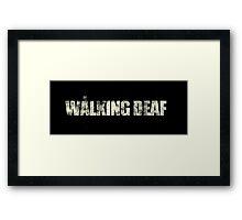 the walking deaf Framed Print
