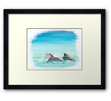 Dolphins are timeless  Framed Print
