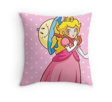 Princess Peach! - Perry Throw Pillow