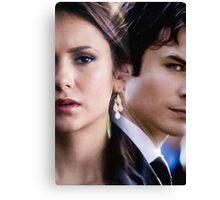 Damon & Elena - The Vampire Diaries Canvas Print
