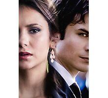 Damon & Elena - The Vampire Diaries Photographic Print