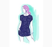 pink hair girl, fashion illustration Unisex T-Shirt