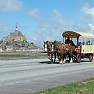 Horse & Carriage - Mont St. Michel, Normandy, France by Chris Monks