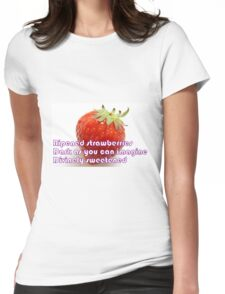 Ripened Strawberries Womens Fitted T-Shirt