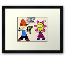 Parappa: An Attempt at Romance Framed Print