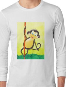 Happy monkey Long Sleeve T-Shirt