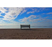 Bench - Bens Point | Orient, New York Photographic Print