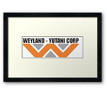 Weyland Yutani Coporation - Building Better Worlds Framed Print