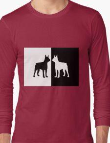 Black white dogs Long Sleeve T-Shirt
