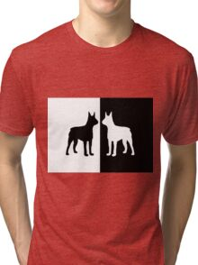 Black white dogs Tri-blend T-Shirt