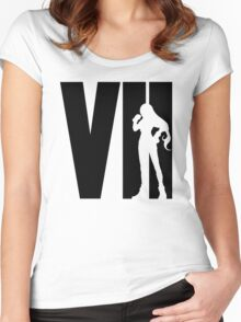 FF7 - Tifa - Black Women's Fitted Scoop T-Shirt