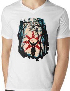 Forest Sun Mens V-Neck T-Shirt