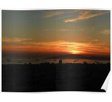 Adalar da günbatımı Poster
