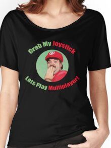 SexyMario - Grab My Joystick Graphic Women's Relaxed Fit T-Shirt
