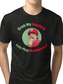 SexyMario - Grab My Joystick Graphic Tri-blend T-Shirt