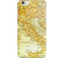 Vintage Map of Italy iPhone Case/Skin