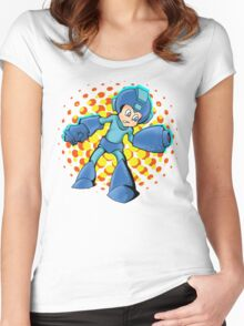 Mega Man In A Mega Jam Women's Fitted Scoop T-Shirt