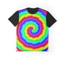Rainbow Spiral Graphic T-Shirt