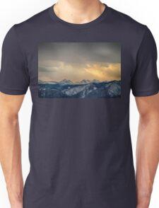 Colorado Rocky Mountain Continental Divide Gold Unisex T-Shirt