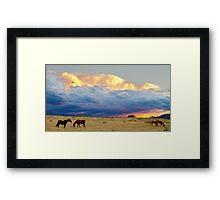 Horses On The Storm Framed Print