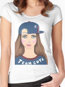 Team Cute Women's Fitted Scoop T-Shirt